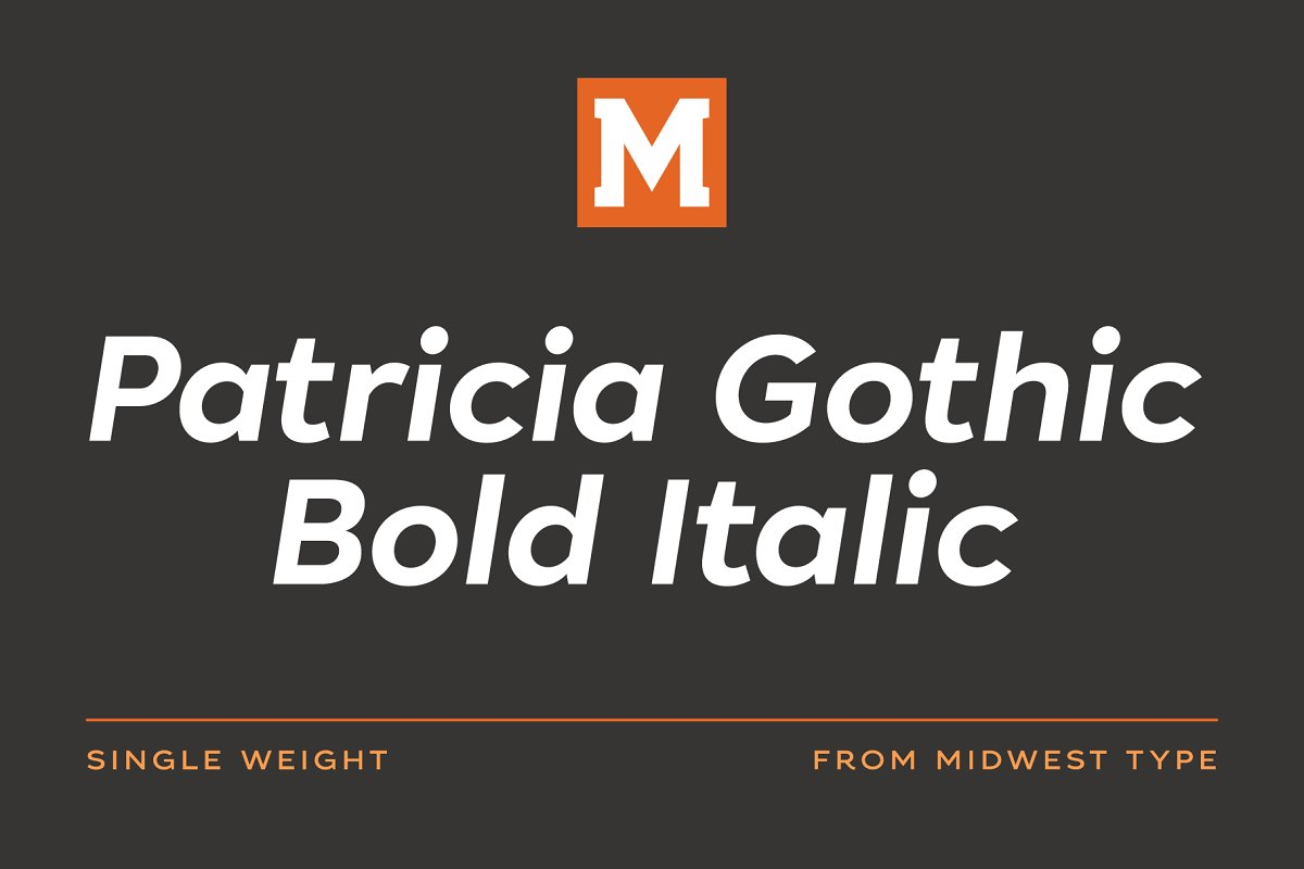 Patricia Gothic Bold Italic