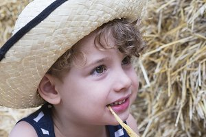 farm boy and straw