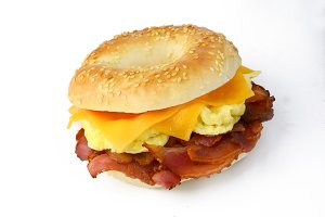 Bacon and cheese bagel