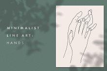 Minimalist Line Art: Hands