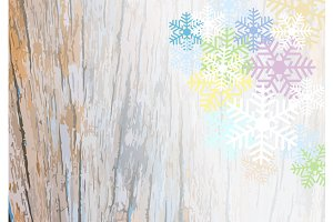 background with colorful snow