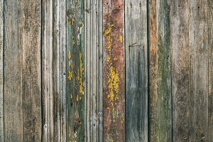 Painted old wood board texture
