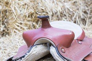 horse saddle background