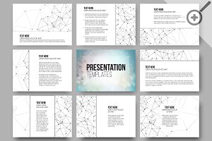 Set of 36 templates for presentation