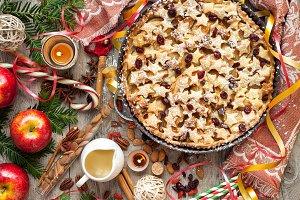 Christmas apple pie stars pattern