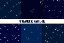 Starry sky seamless set
