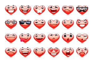 Valentine Heart Emoticons Collection