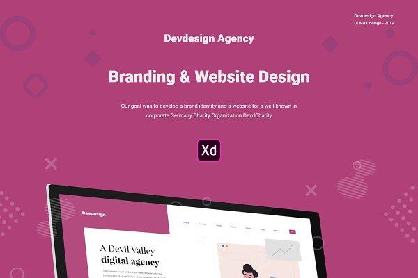 Devdesign Agency XD UI Website