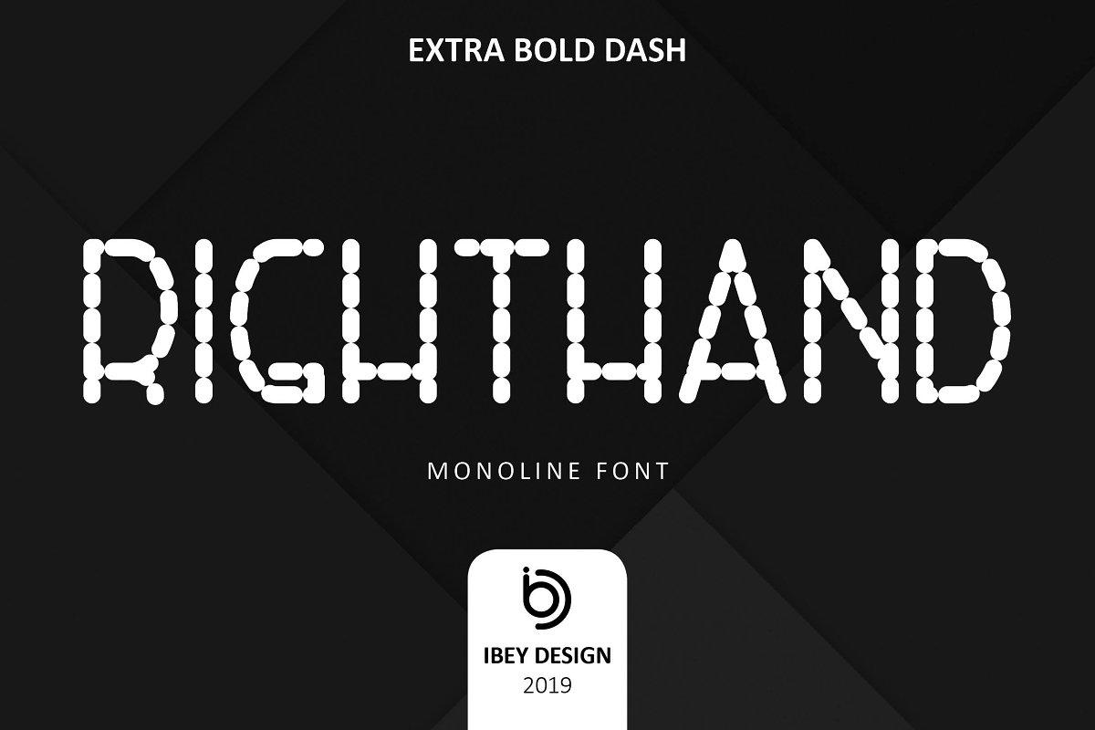 RightHand Exta Bold Dash Font