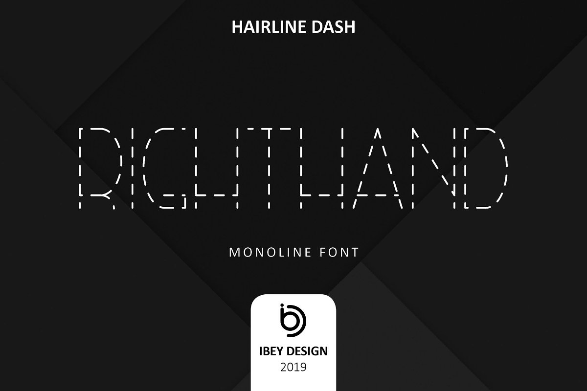 RightHand Hairline Dash Font