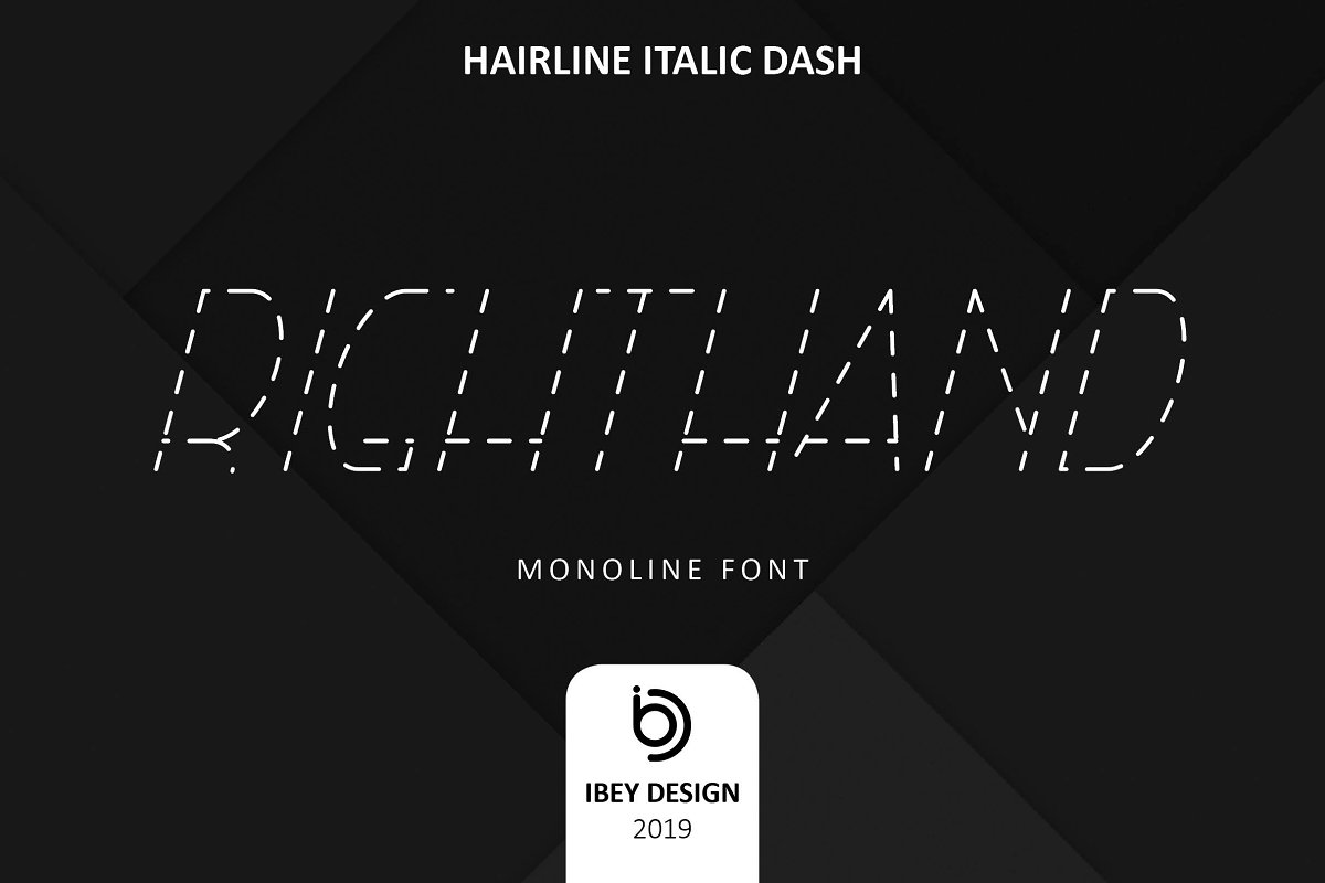 RightHand Hairline Italic Dash Font