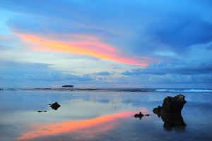 Colorful sunset  on Philippines