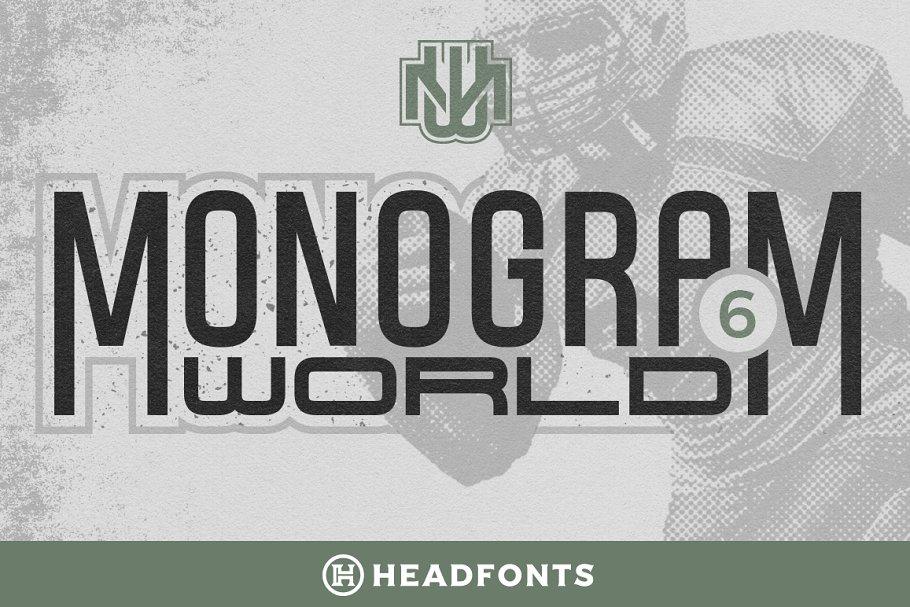 Monogram World   Sport Monogram Font