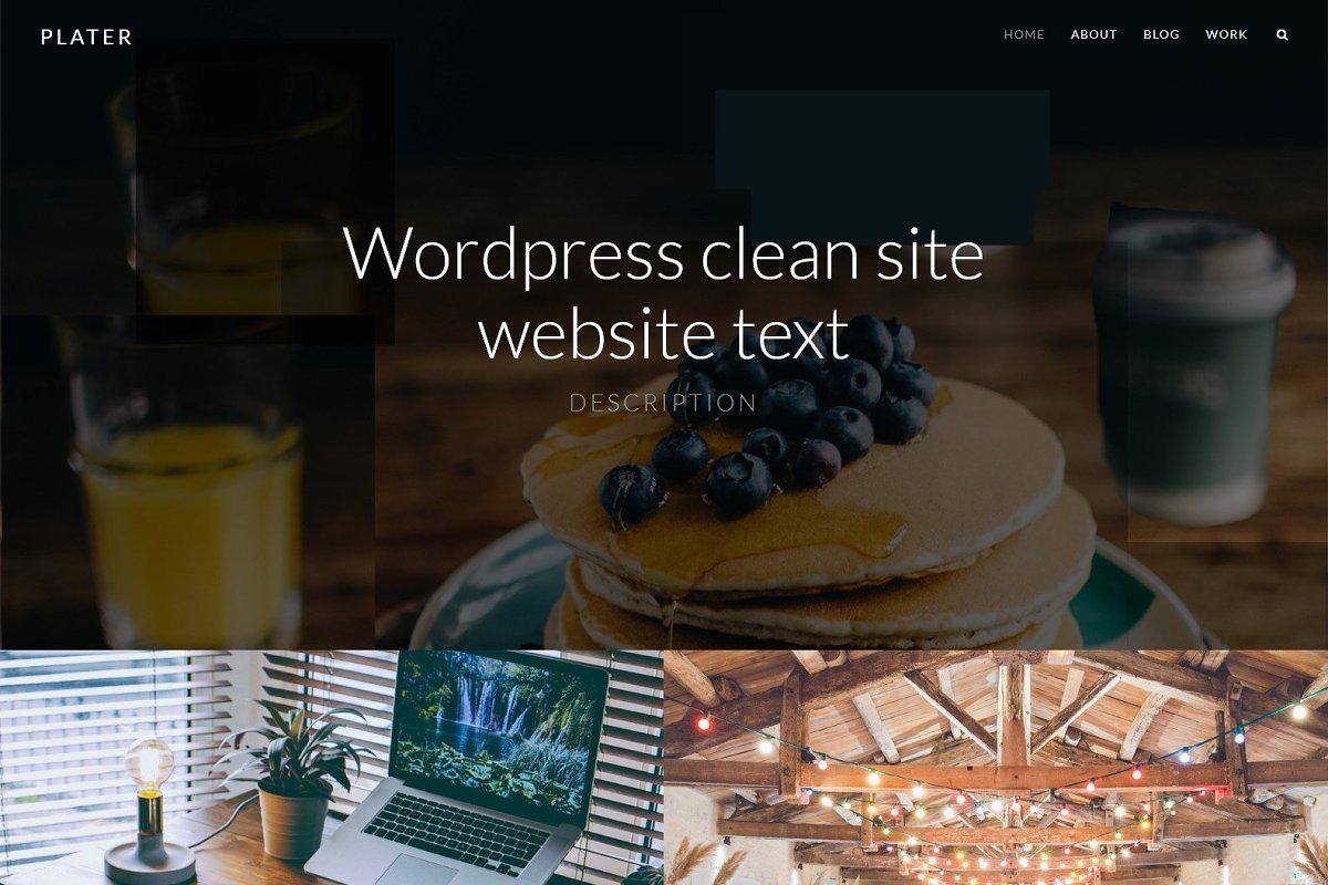 Plater - Clean Wordpress Theme