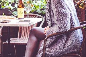Girl drinking wine
