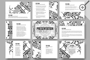 Science templates for presentations
