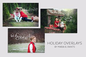 Overlays - Holiday Card Text & Brush