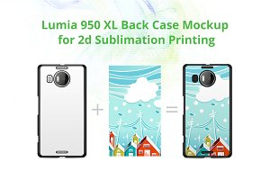 Lumia 950 XL 2d Case Design Mock-up