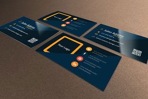 Flat Business Card Design Template