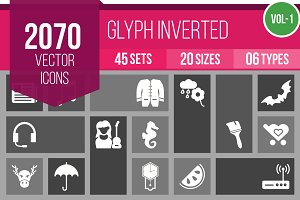 2070 Glyph Inverted Icons (V1)
