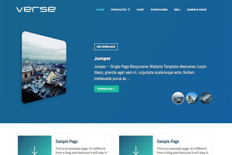 Verse WordPress Digital Store Theme ~ WordPress Commerce