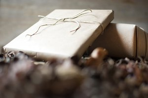 Rustic gift boxes