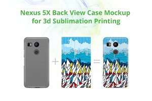 Nexus 5X 3d Case Design Mock-up