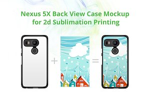 Nexus 5X 2d Case Design Mock-up