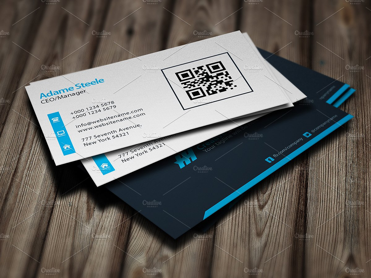 Simple Business Cards - Light & Dark ~ Business Card Templates ...