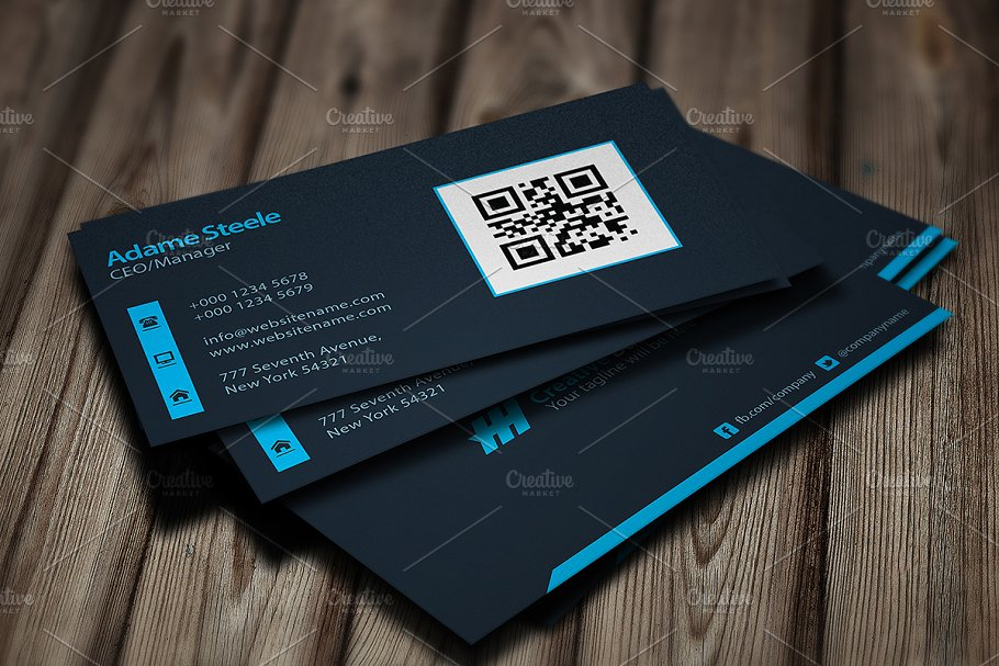 Simple business cards light dark business card templates next colourmoves