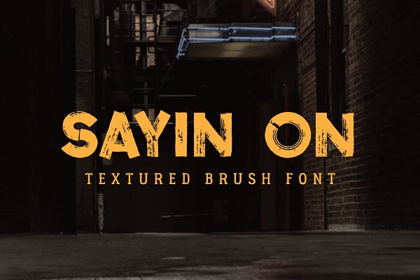 Sayin On - Textured Font
