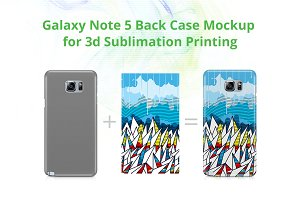 Galaxy Note 5 3d Case Mockup