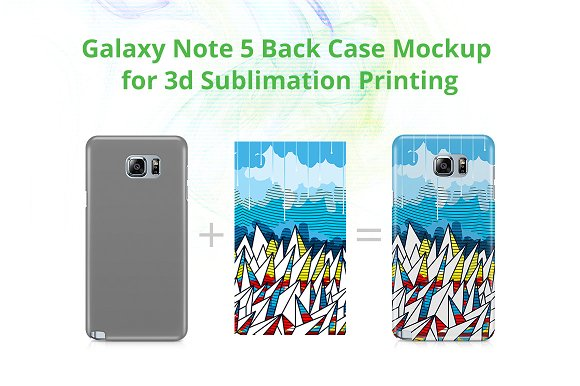 Galaxy Note 5 3d Case Mockup in Product Mockups