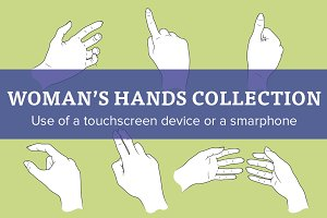Woman's hands collection