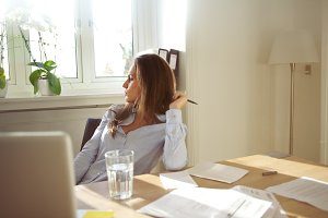 Business woman in home office