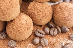 Chocolate Truffles and Coffee beans