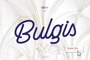 Bulgis Script With Variable Font