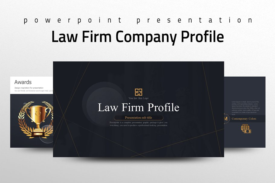 Law Firm Company Profile Template