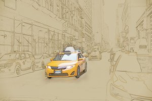 Yellow Cab in New York