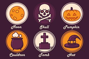 9 Halloween Badges