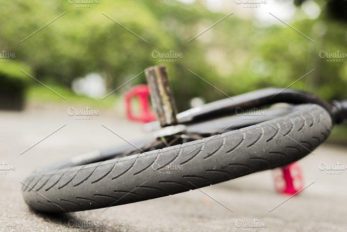 Wheel of a Freestyle bike on a Floor in Hong Kong.jpg - Sports