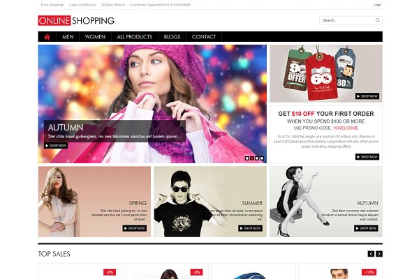 Drupal Themes: WeebPal - New Shopping