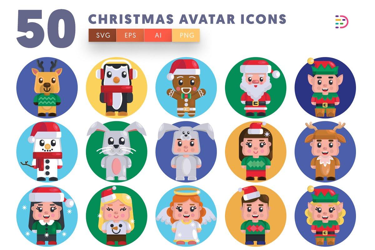 50 Christmas Avatar Icons