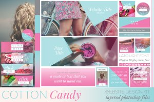 Cotton Candy Website/Blog Kit
