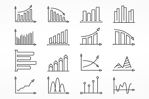 Graphs Line Icons