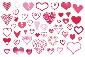 48 Vector Heart Shapes