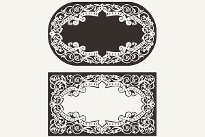 Two Ornate Frames Backgrounds