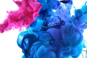 colors and ink in water