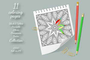 Coloring Pages Vector Ornaments