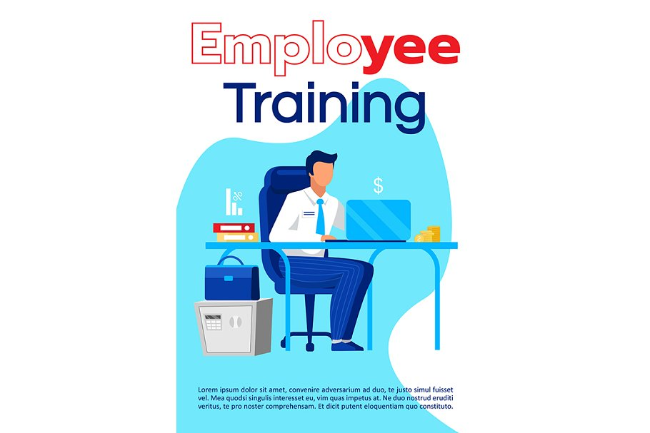 Employee training brochure template